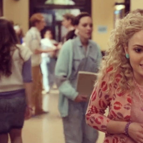 Another #vintage piece spotted on last night's episode of @thecarriediaries …our mint green/grey cardi! (at Antoinette)