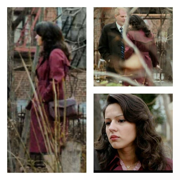 Another #vintage piece from the shop spotted on the last episode of @theamericansfx worn by Annet Mahendru who plays Nina, the Soviet mole (at Antoinette)
