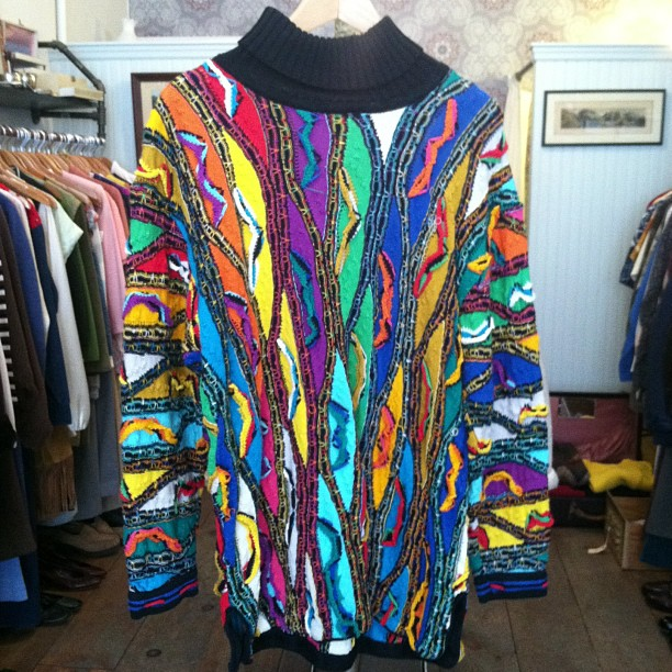 Happy #vintage COOGI sweater size XL $95 (at Antoinette)
