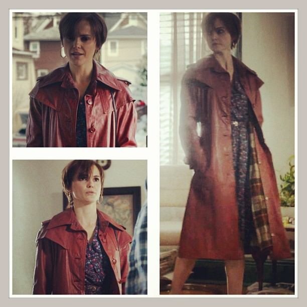 Our #vintage leather trench spotted on the last episode of @theamericansfx worn by #KeriRussell who plays KGB agent Elizabeth Jennings (at Antoinette)