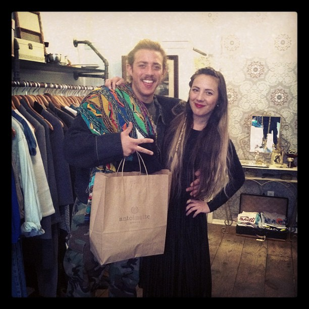 Look what Mark from @topshelfpremium picked up at the party #coogi sweater (at Antoinette)