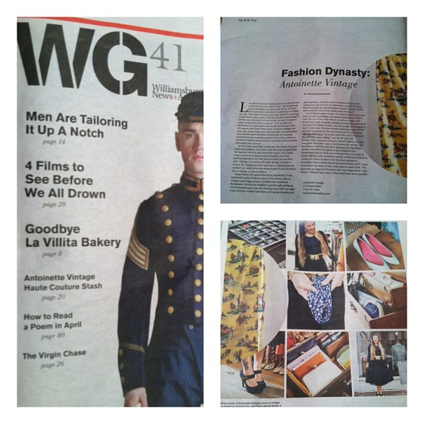 Just got the new issue of The #wgnews -Check out the 2 page story on the shop…Super special thanks to @benrosenzweig for the beautiful shots & the WG Team! ❤ (at Antoinette)