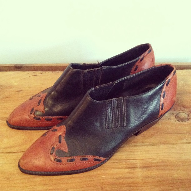 Most amazing #vintage 80's western booties genuine leather size 6 (more like a 5 ½ which is why I'm not buying them) $68 (at Antoinette)