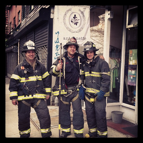 These dudes are antoinette fans #fdny #antoinettelovesfdny (at Antoinette)