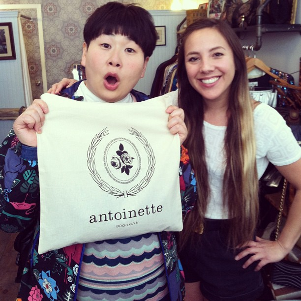 Japanese celebrity comedian #MiyukiOshima filmed a video in the shop yesterday…I'm still smiling thinking about how adorable she was! (at Antoinette)