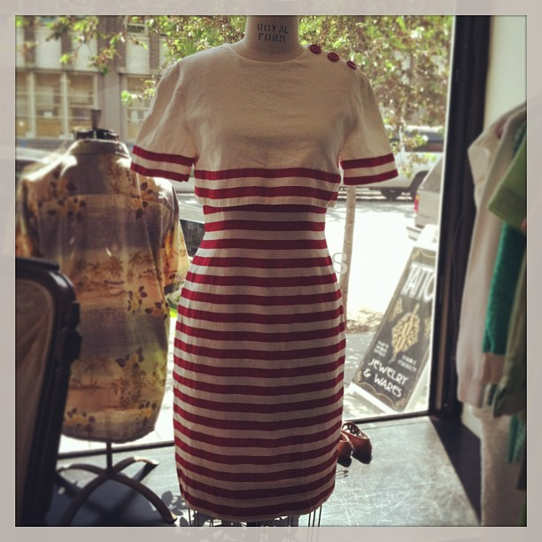 Memorial Day is only 2 weeks away! We've got your perfect outfit #vintage #Nipon 100% Linen Size 4, $68  (at Antoinette)