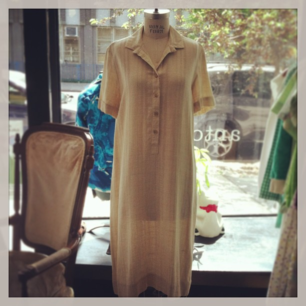 Irish eyes are smiling in this dress! #vintage #JohnHagarty 100% Irish Linen dress #MadeinIreland $80 size M 🍀 (at Antoinette)