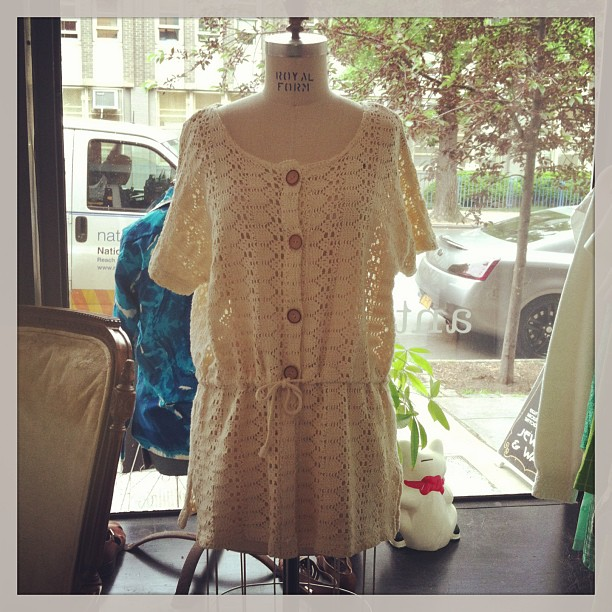 Def one of my fav's in the shop right now! #vintage overlay crochet top size M $58 (at Antoinette)