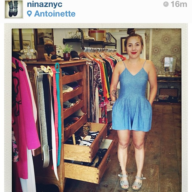 Super honored to be @ninaznyc 's Cloggie of the Month! #regram #antoinettevintage (at Antoinette)