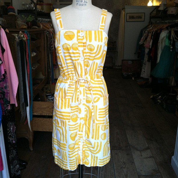 Sunday Sunny #vintage cotton print dress $68 size S (at Antoinette)
