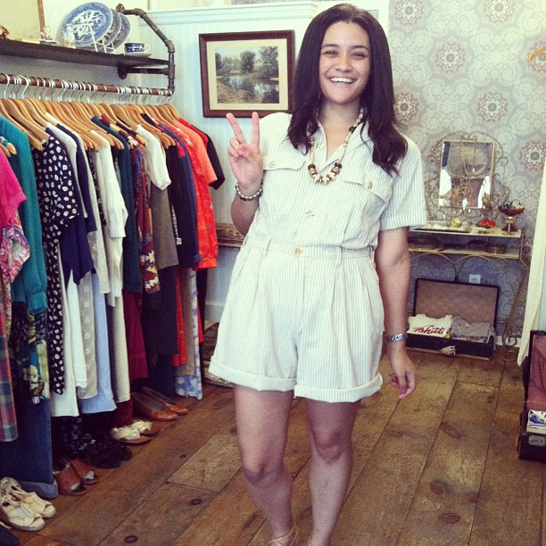Sold the #vintage #Esprit romper to this #antoinettebabe @kitkatcataz ! 👍😘 (at Antoinette)
