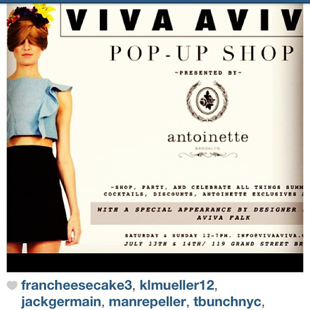 The time when total #babe @manrepeller liked a photo of your store's pop-up 👍 (at Antoinette)