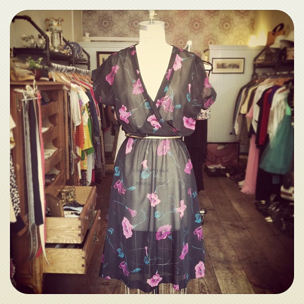 Another super sheer #vintage 1970's beauty, size small/medium $68 (at Antoinette)