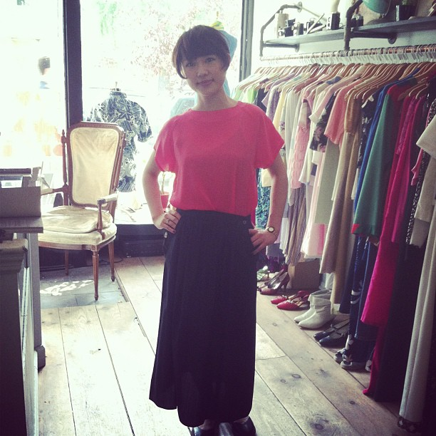 This #kawaii #babe modeling some #vintage pieces for us! (at Antoinette)