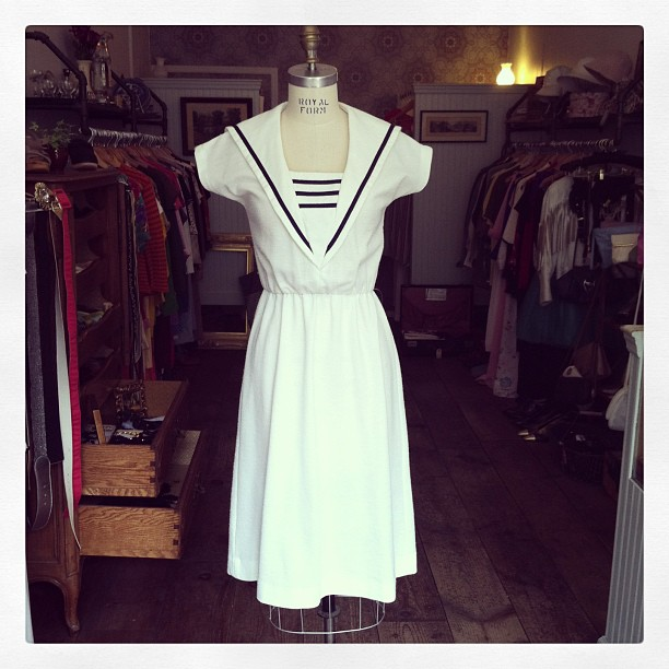 The cutest ever #vintage1970's Nautical dress by #ToniTodd $75 size Small/Medium #antoinettevintage  (at Antoinette)