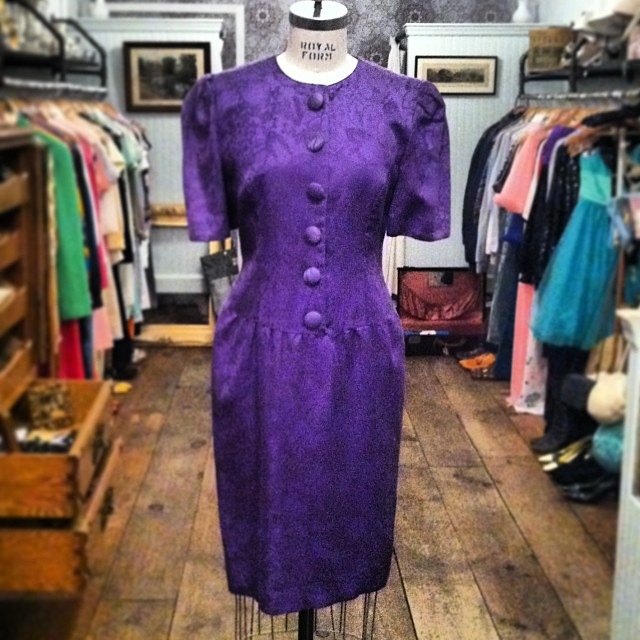 #Vintage #Talbots Perfect shade of purple dress $65 size 6/8 #madeinusa #antoinettevintage  (at Antoinette)
