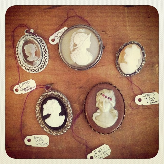 Our beautiful selection of #vintage #cameos from the 1900's-1980's, $40-$85 #antoinettevintage  (at Antoinette)