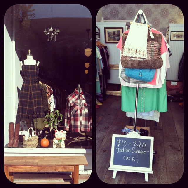 "Take 20%off everything! Plus we got an ""Indian Summer Rack!"" #vintagecrawl #antoinettevintage  (at Antoinette)"