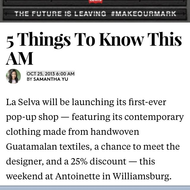 Check out our weekend popup featured on @refinery29 today! #antoinettevintage #laselvaclothing #refinery29  (at Antoinette)