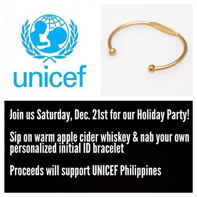 Our Holiday Party is this Saturday, December 21st 12-7pm! Have a warm whiskey drink & pick up a personalized ID bracelet for $20 *proceeds will go to @unicefphils 🙏🎄🎅 #antoinettevintage #vintage #haiyan #reliefPH (at Antoinette)