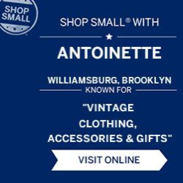 #SmallBusinessSaturday is in One week!  #ShopSmall #StayLocal #antoinettevintage  (at Antoinette)