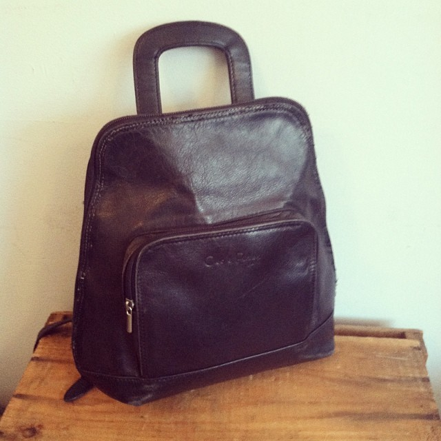Adorbs #vintage 90's #Cleo&Patek Genuine leather #madeinparis backpack $60 #antoinettevintage  (at Antoinette)