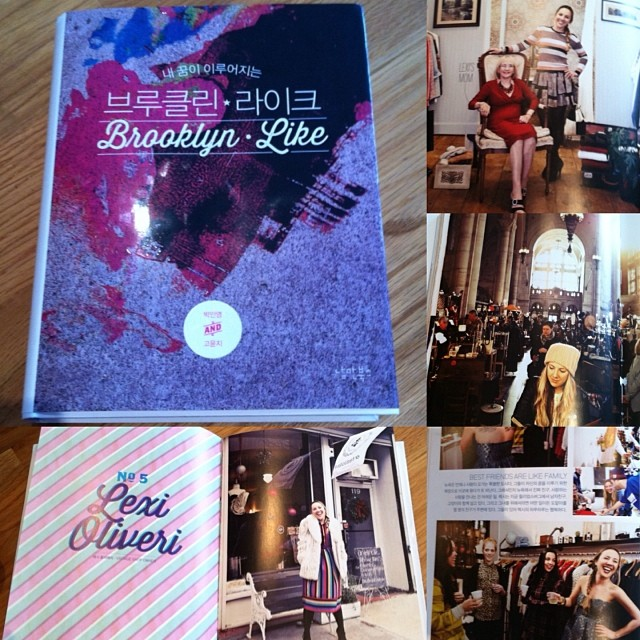 Thanks & ❤️ to Sophie & Yunji for compiling such a work of art into this book! #BrooklynLike just came out in Korea & is a book about #Brooklyn & 12 artists living here…so proud to be part of it! #antoinettevintage #williamsburg #Korea 🇰🇷 (at Antoinette)
