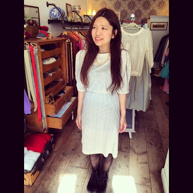 KAWAII alert!! Loving this 1980's number on this #antoinettebabe #brooklyn #vintage #antoinette (at Antoinette)