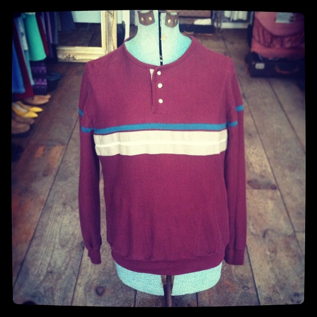 It's #WednesdayMensday ! #Vintage 1980's top by #Sprint $35 size L #antoinettevintage #mensvintage #madeinusa #brooklyn #williamsburg #ootd #mensfashion #top #1980s  (at Antoinette)