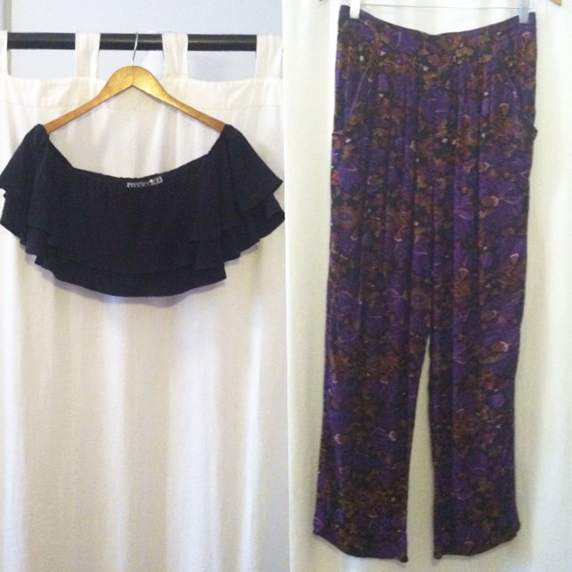 Mixing some new with old today…pair this @viva_aviva #rongotop (all sizes available) $150 with these #vintage #1980s harem pants size M/L $50 #antoinettevintage #vivaaviva #madeinusa #madeinnyc #oneofakind #ootd #streetstyle #summerstyle #croptop #williamsburg #brooklyn #thriftandstyle  (at Antoinette)