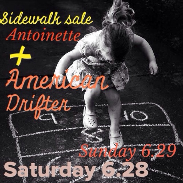 Stop by the shop for our Antoinette X American Drifter Sidewalk Sale! We'll be lounging in our beach chairs, serving up some cocktails & pulling out some #vintage from the archives for you guys! #antoinetteXAmericanDrifter #antoinettevintage #americandriftervintage #sidewalksale #madeinusa #oneofakind #williamsburg #brooklyn  (at Antoinette)