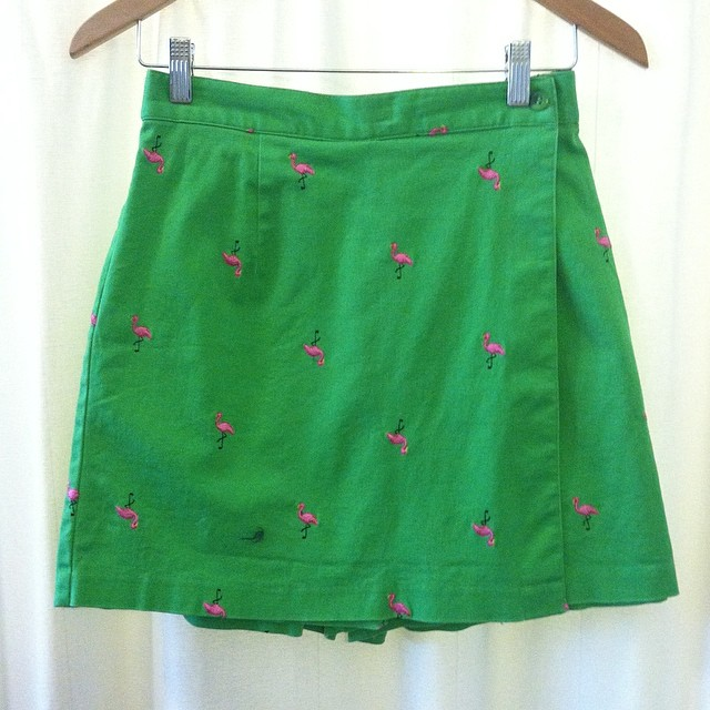 For the flamingo ❤️er's out there! #vintage #1980s Skort by #Briggs size S $55 #antoinettevintage #madeinusa #oneofkind #ootd #williamsburg #brooklyn #miami #vintageskort #thriftandstyle  (at Antoinette)