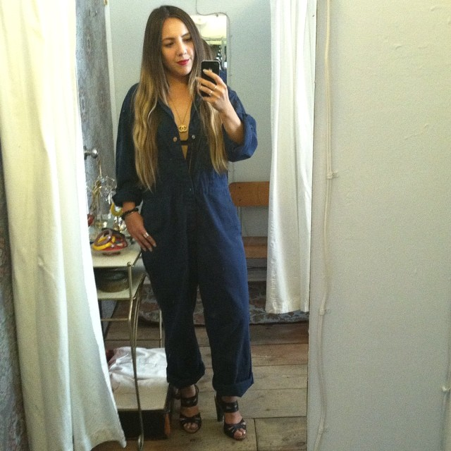 Picked up this gem at my homie's store @redmoonap in Asbury Park, NJ…I'm obsessed & now on a mission to bring some in the shop for you babes!   #antoinettevintage #vintage #mechanic #jumpsuit #Lee #UnionAlls #madeinusa #ootd #oneofakind #williamsburg #brooklyn #thriftandstyle #chanel  (at Antoinette)