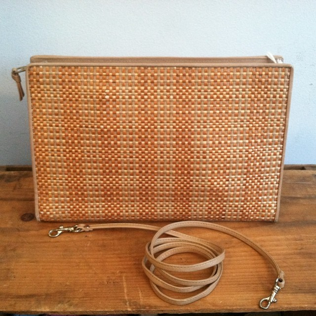 One of my favorite bags in the shop! #Vintage early #1980s clutch w/removable straps $50 #antoinettevintage #vintagebag #madeinusa #oneofakind #summerstyle #williamsburg #brooklyn #thriftandstyle (at Antoinette)
