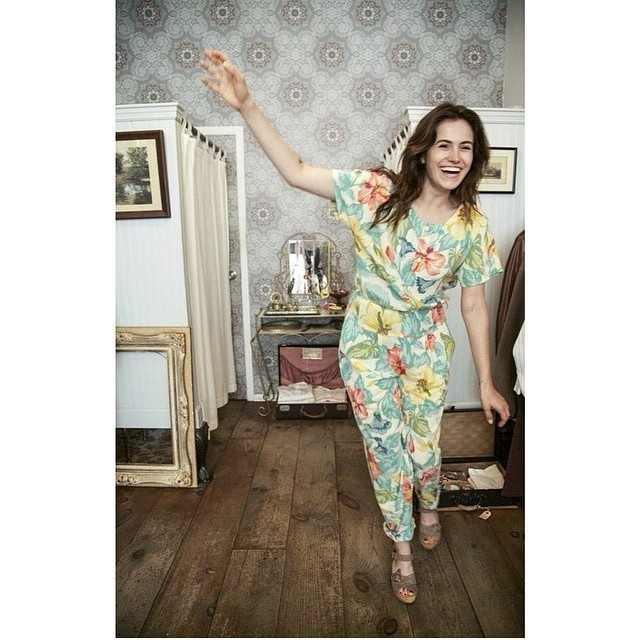Monday's make us wobbly too! @katienicolemercado for Antoinette #vintage #1990s floral #LizClaiborne jumpsuit size S $75 #antoinettevintage #oneofakind #ootd #williamsburg #brooklyn #thriftandstyle (at Antoinette)