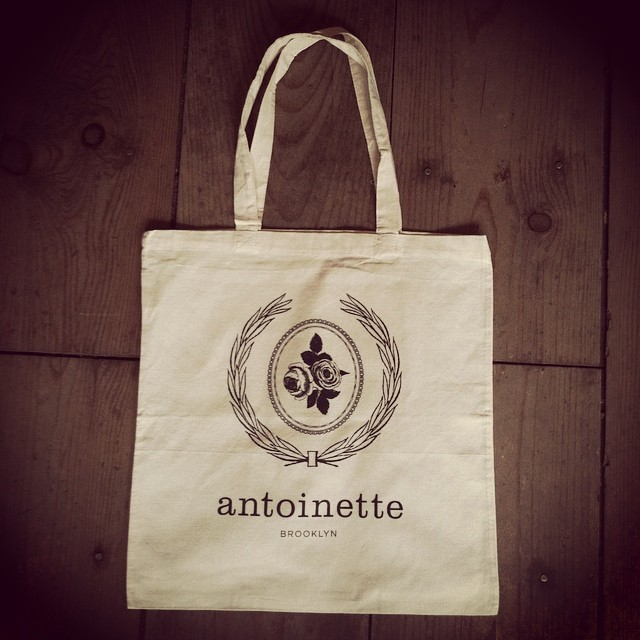 We totes have more totes in the shop! 100% Cotton $10 #MadeinVermont #madeinusa #antoinettevintage #williamsburg #brooklyn #thriftandstyle  (at Antoinette)