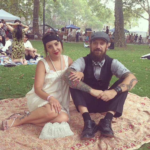 Roaring 20's Sunday Style @jazzagelawnparty #antoinettevintage #vintage #1920s #madeinusa #ootd #williamsburg #brooklyn #TheSplendidDrunken20s (at Jazz Age Lawn Party)