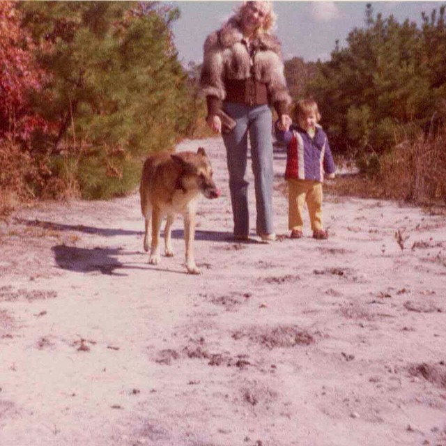 Happy National Dog Day! Antoinette (My Mother) Our dog Jacko & Me (age 2) #HappyNationalDogDay #NJ #antoinettevintage #vintage #adoptdontshop (at Antoinette)