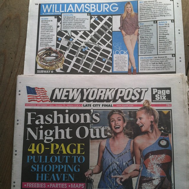 #Flashbackfriday to when we got in the #NYPost for #FashionsNightOut 🗽  #antoinettevintage #vintage #Lifecurated #Scosha #NYFW #MBFW #fbf #tbt #fashion #FNORIP (at Antoinette)