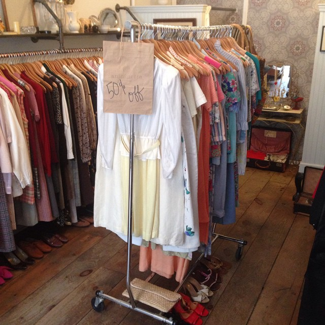 Making room for Fall so you guys have a rack full of #vintage 50% off! 👌 #antoinettevintage #williamsburg #brooklyn #sale (at Antoinette)