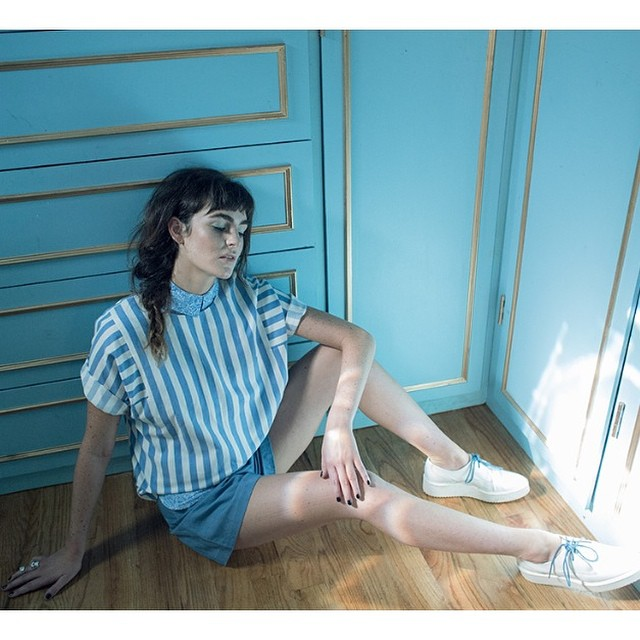 Here's a shot of total babe Ali Lohan in the latest issue of @synzine wearing @wraycollection shorts that will be exclusively sold here at the shop💙available in store February 2015💙 #wraycollection #antoinettevintage #BrooklynDesigner #williamsburg #brooklyn #thriftandstyle (at Antoinette)