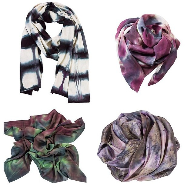 Scarf season is here!  @podascashop scarves will be in shop soon just in time to keep you warm & feeling magical ✨✨✨  #podascashop #shibori #silk #scarves #madeinusa #madeinportland #williamsburg #brooklyn #thriftandstyle      (at Antoinette)