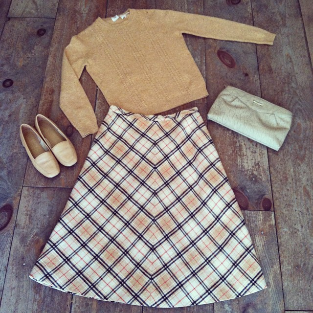 Loving everything about this #vintage #ootd especially the #Burberry inspired #1960s skirt by #Dalton #antoinettevintage #madeinusa #oneofakind #williamsburg #brooklyn (at Antoinette)