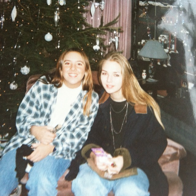 Pretty sure after we opened our x-mas gifts I either made Daina listen to the Nirvana album or she made me listen to Skinny Puppy   #tbt #OG #1990s #grunge #flannel #drmartens #FriendsSinceKindergarten #vintage #NJ (at The folks house)
