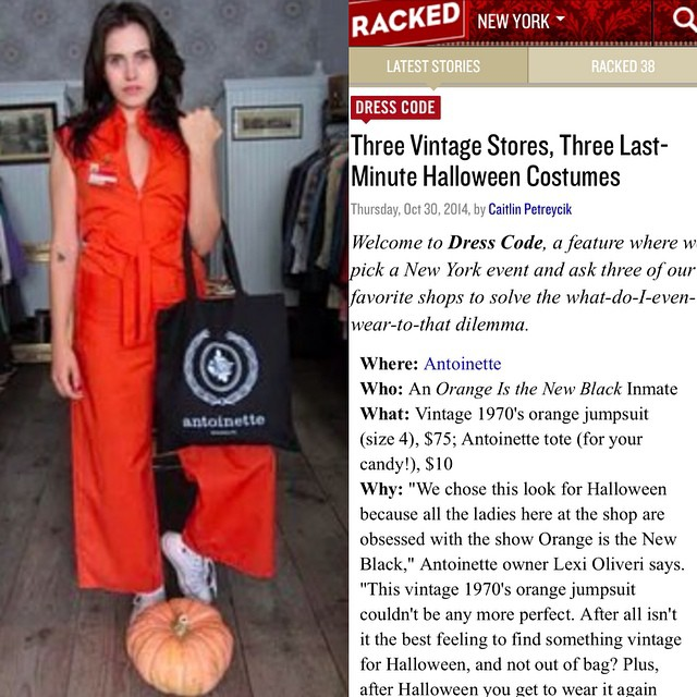 Happy Halloween Antoinette Babes! Thanks @rackedny for including us on this week's #DressCode 🎃👻🎃👻 #Halloween #antoinettevintage #vintage #rackedny #williamsburg #brooklyn #antoinettebabesabina (at Antoinette)