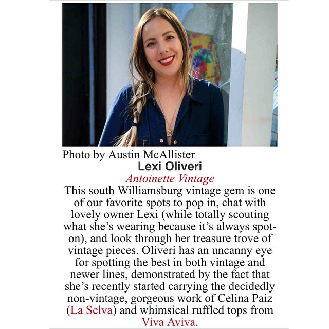 "There's not much for to say other than thank you so much to @brooklynmagazine for including me on the ""Brooklyn's Fashion Influencers List"" It's an honor to be alongside these unbelievably talented #Brooklyn peeps…Come celebrate with us at the @diesel Pop-up shop tonight located at 101 Bedford Ave. #antoinettevintage #vintage #Williamsburg #BrooklynMagazine (at Antoinette)"