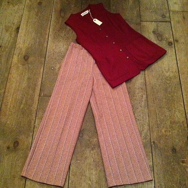 This #vintage 1960's vest is the last of the bunch we have & also Samantha Pleet approved …we matched it up with these 60s pants by #Sears   #antoinettevintage #madeinusa #oneofakind #ootd #williamsburg #brooklyn #thriftandstyle  (at Antoinette)