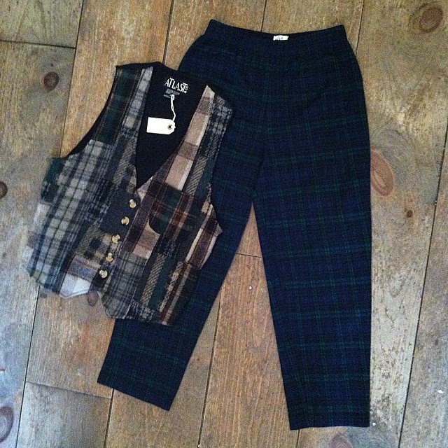 There is never enough Plaid in your wardrobe 💙💚💛❤️  #vintage #1980s harem style pant size S $55 & vest size L $50   #antoinettevintage #madeinusa #oneofakind #ootd #williamsburg #brooklyn #shoplocal    *This month bring a new, unused toy for a child in need & get 30% off Vintage #ToysForTots (at Antoinette)
