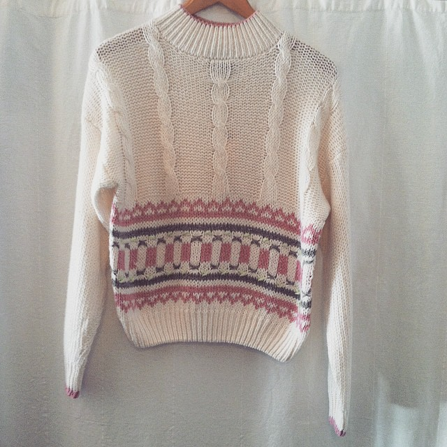 The cutest little sweater that ever was  ❄️❄️❄️  //  #vintage #1980s sweater by #Tangiers $38 (tag reads size L)  All Vintage is 20% off for the month of January! (at Antoinette)