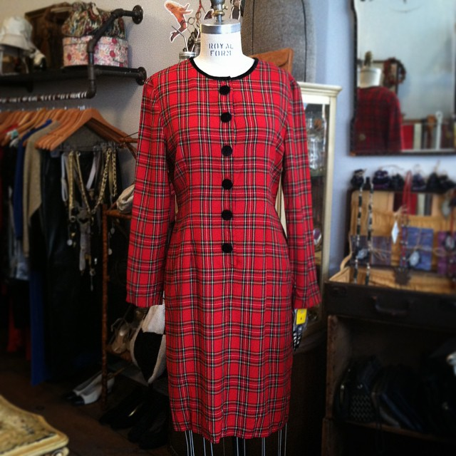 We're feeling a little Plaid Glad at the shop today ❤️💚💙💛 #Vintage #1980s by #Halmode size 6 $60 // All Vintage is 20% off (at Antoinette)